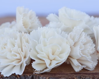 Carnation Sola Flowers - Sold in Sets of 10, 50 & 100