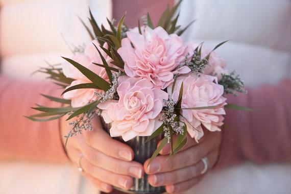 Small Blush Pink Dahlia Sola Flower Arrangement - Pink Keepsake Sola Flower Arrangement