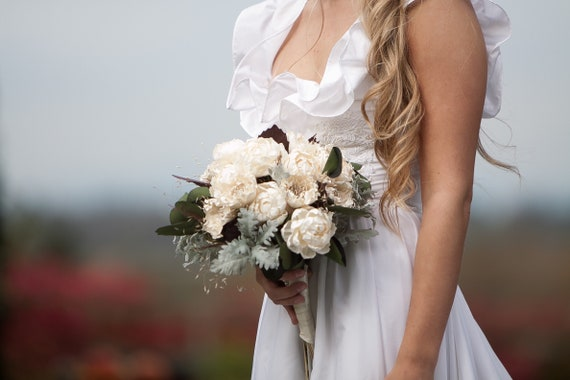 Fall Ivory Boho Bridal Bouquet
