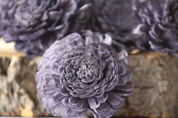 Navy Blue Large Chorki Sola Flowers - Set of 10 ,  Navy Sola Flowers, Wood Sola Flowers, Chorki Sola, Balsa Wood Flowers, Craft Flowers