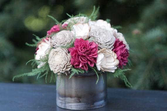 Holiday Whimsey Floral Arrangement - Keepsake Sola Flower Christmas Centerpiece