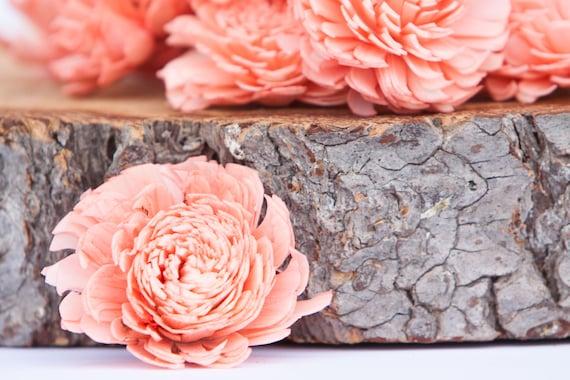 Coral Chorki Sola Flowers - SET OF 10
