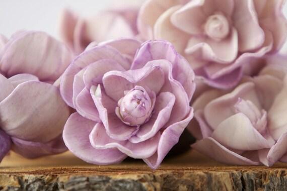 Lavender Sola Magnolia Flowers- SET OF 10