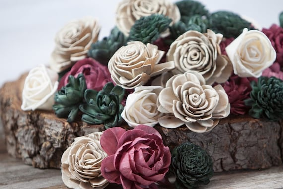 Rustic Holiday Sola Flower Mix - Available in sets of 45 and 100