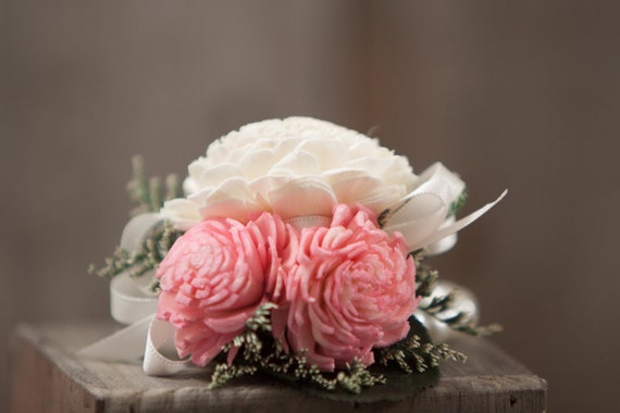 Woman's Pink Beaded Wristlet Corsage