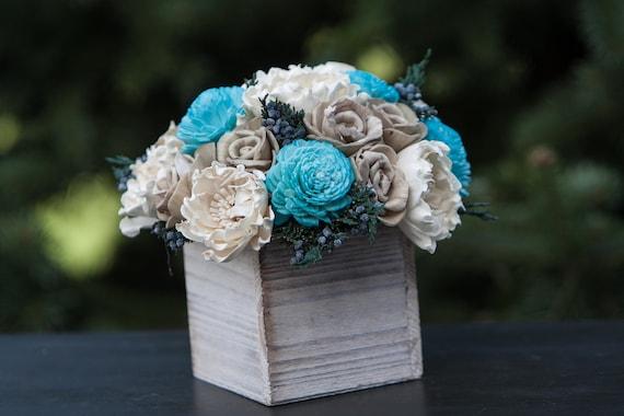 Winter Wonderland Sola Flower Arrangement - Winter Centerpiece
