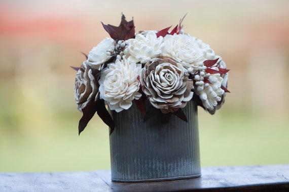 Fall Farmhouse Sola Flower Arrangement