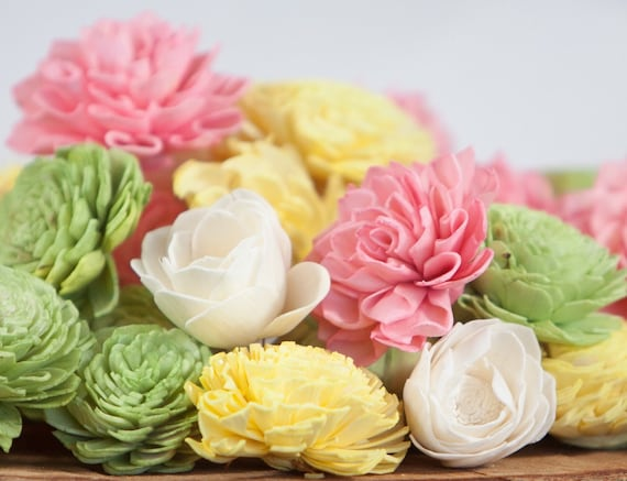 Spring Sola Flower Mix - Available in sets of 45 and 100