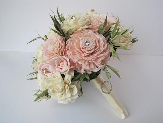 Blush Pink Bridal Bouquet, Keepsake Bridal Bouquet,  Sola Flower Bridal bouquet, sola flower bouquet,  Pink wedding flowers
