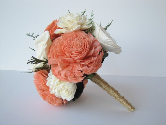 Coral Bridesmaid Bouquet, Jr. Bridesmaid Bouquet