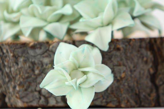 Mint Star Magnolia Sola Flowers - SET OF 10 , Sola Flowers, Mint Wood Sola Flowers, Balsa Wood, mint craft flowers, DIY flowers