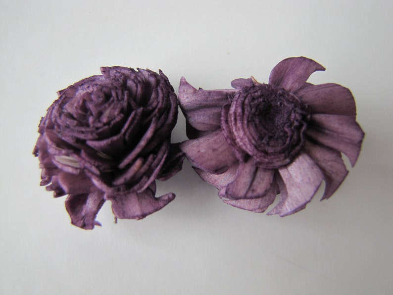 balsa wood flowers Set of 15 sola flowers balsa wood sola flowers Eggplant mini chorki sola flowers Eggplant Mini Chorki Flowers