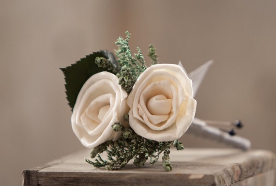 Miniature Rose Sola Flower Boutonniere