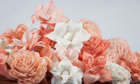 Peachy Sola Flower Mix - Available in sets of 45 and 100