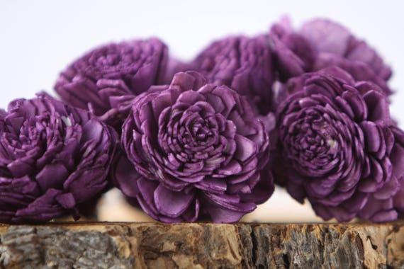Purple Belly Sola Flowers - SET OF 10