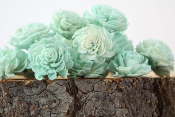 Mint Mini Chorki Flowers - Set of 15 , mint mini chorki sola flowers, sola flowers, balsa wood flowers, balsa wood sola flowers, mint flower
