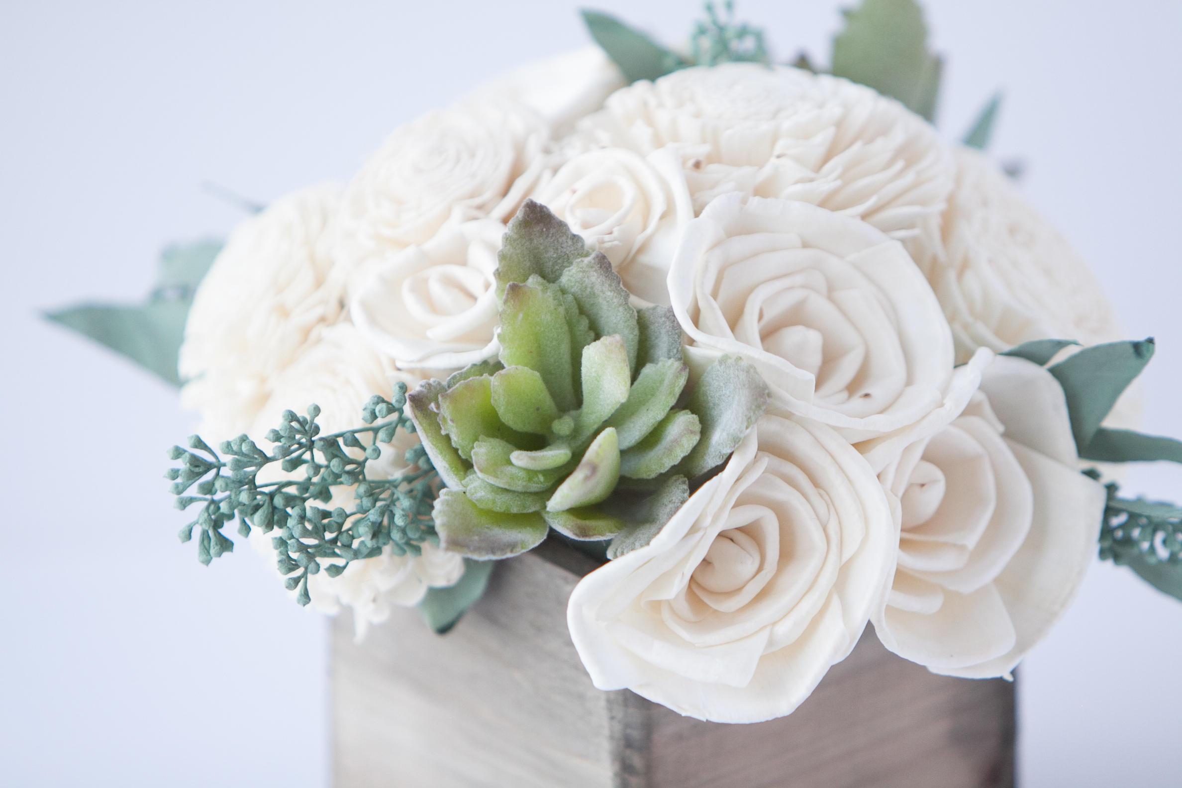 Succulent Sola Flower Arrangement - Floral Arrangement -Sola Flower ...