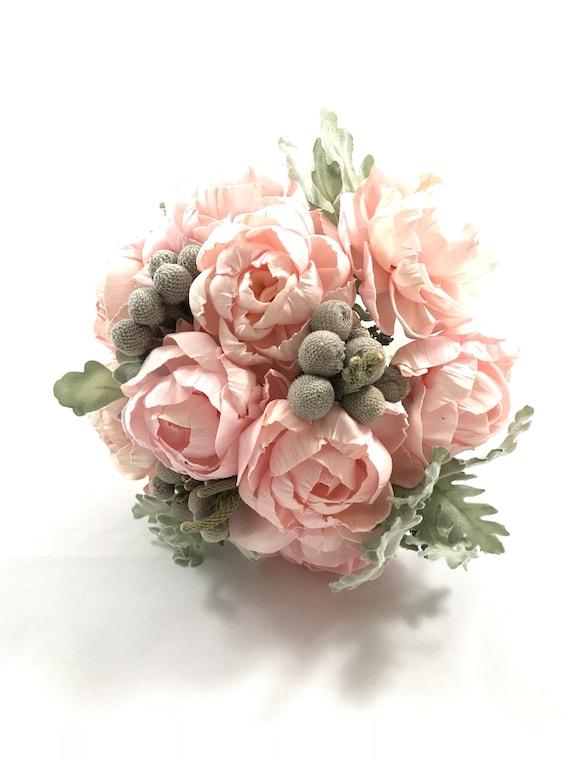 Blush Pink Peony Bridesmaid Bouquet - Keepsake Bouquet