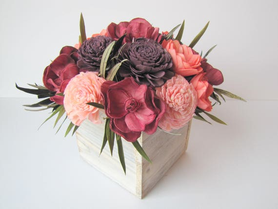 Fall Keepsake Arrangement -Fall Flower Arrangement - Simple Floral Centerpiece - Wedding Centerpiece - Rustic Centerpiece