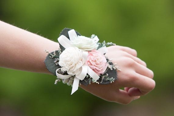 Girls Miniature Chorki Sola Flower Wristlet Corsage