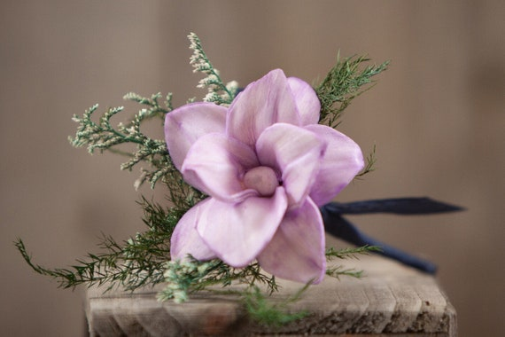 Lavender Star Magnolia Pin On Boutonniere