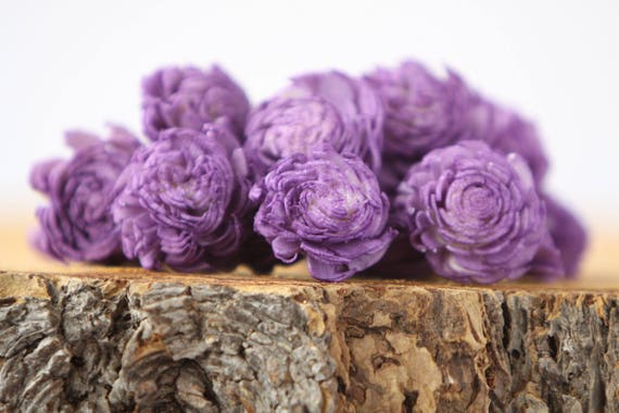 Purple Mini Chorki Flowers - Set of 15