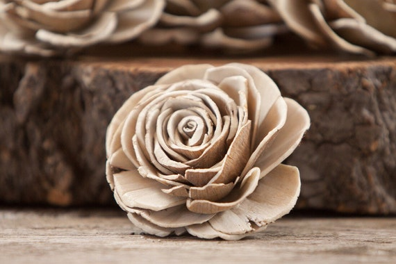 Natural Beauty Rose Sola Flowers- SET OF 10, Set of 50, and Set of 100 available