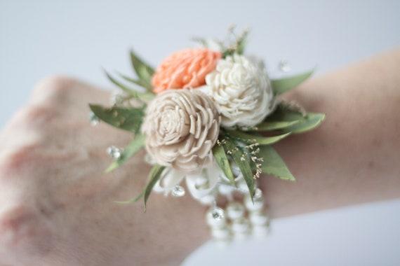 Miniature Chorki Sola Flower Wristlet Corsage - Traditional Wrist Corsage - Keepsake Wrist Corsage - Prom Corsage - Mother's Corsage