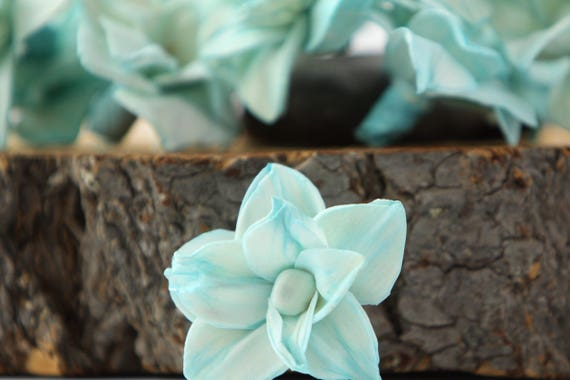 Turquoise Star Magnolia Sola Flowers - SET OF 10