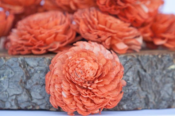 Orange Chorki Sola Flowers - SET OF 10
