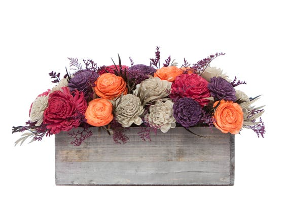 Bold Arrangement - Ships FREE, Sola Flower Fall Arrangement, Keepsake Fall Bouquet
