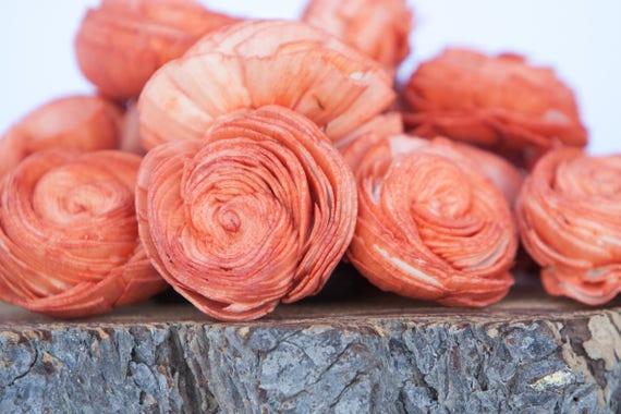 Orange Sola Shell Flowers - SET OF 10