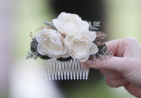 Ivory Camellia Floral Hair Comb