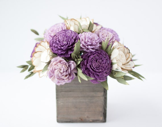Purple Keepsake Sola Flower Arrangement - Mother's Day Gift - Sola Floral Arrangement