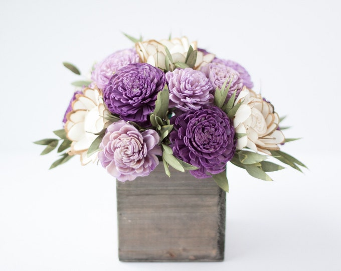 Purple Keepsake Sola Flower Arrangement - Mother's Day Gift - Sola Floral Arrangement