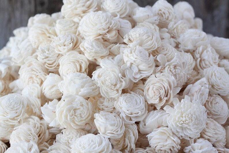 Bulk Miniature Chorki Sola Flowers Flower Value Pack of mini chorki Sola Flowers Balsa Wood Flowers DIY SET OF 500 Wood Sola Flowers