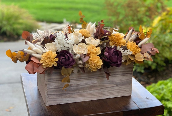 Large Fall Dining Table Sola Flower Arrangement