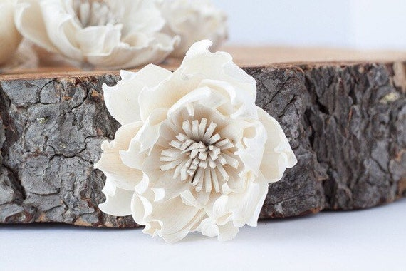 Hydrangea Sola Flowers - Set of 5 , Sola Flowers, Wood Sola Flowers, Balsa Wood Flowers, Craft Flowers, sola wood flowers