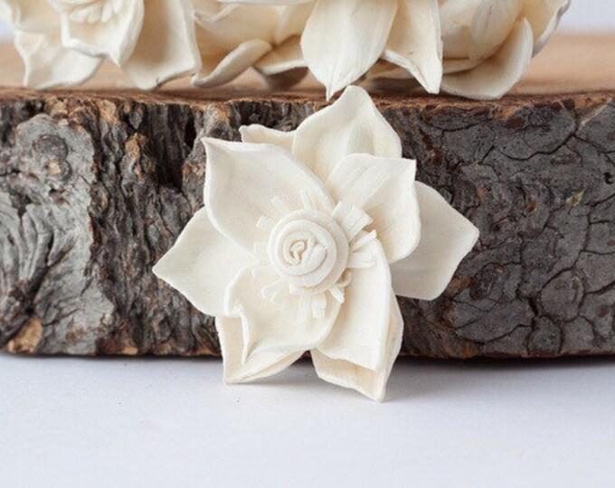 Delphinium Sola Flowers - Set of 5 , Sola Flowers, Sola Flower, Wood Sola Flowers, Balsa Wood Flowers, Craft Flowers