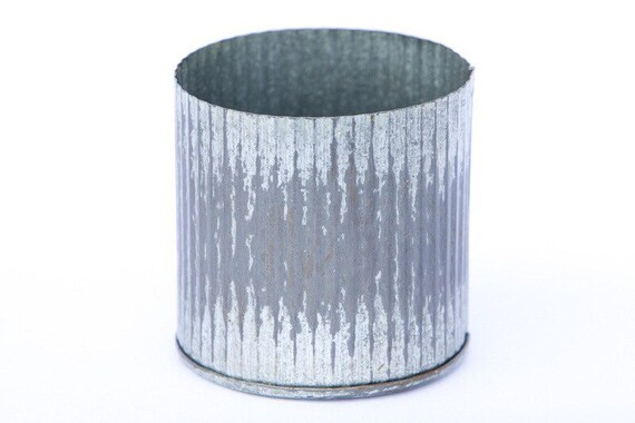 Small Zinc Norah Vase - 3 inch tall vase - zinc container