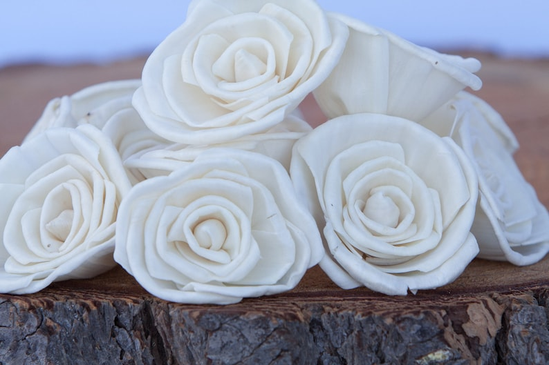Classic Rose Sola Flowers  Sets of 10 50 & 100 Available image 0