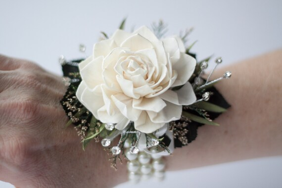 Dahlia Wristlet Corsage, Prom Corsage, Mother's Corsage