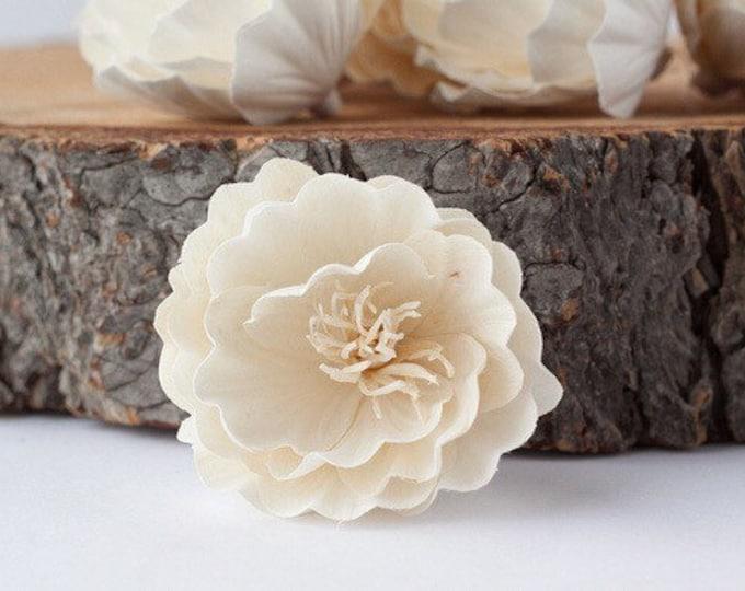 Magdalena Sola Flowers - Set of 5 , Sola Flowers, Sola Flower, Wood Sola Flowers, Balsa Wood Flowers, Craft Flowers, sola wood flowers
