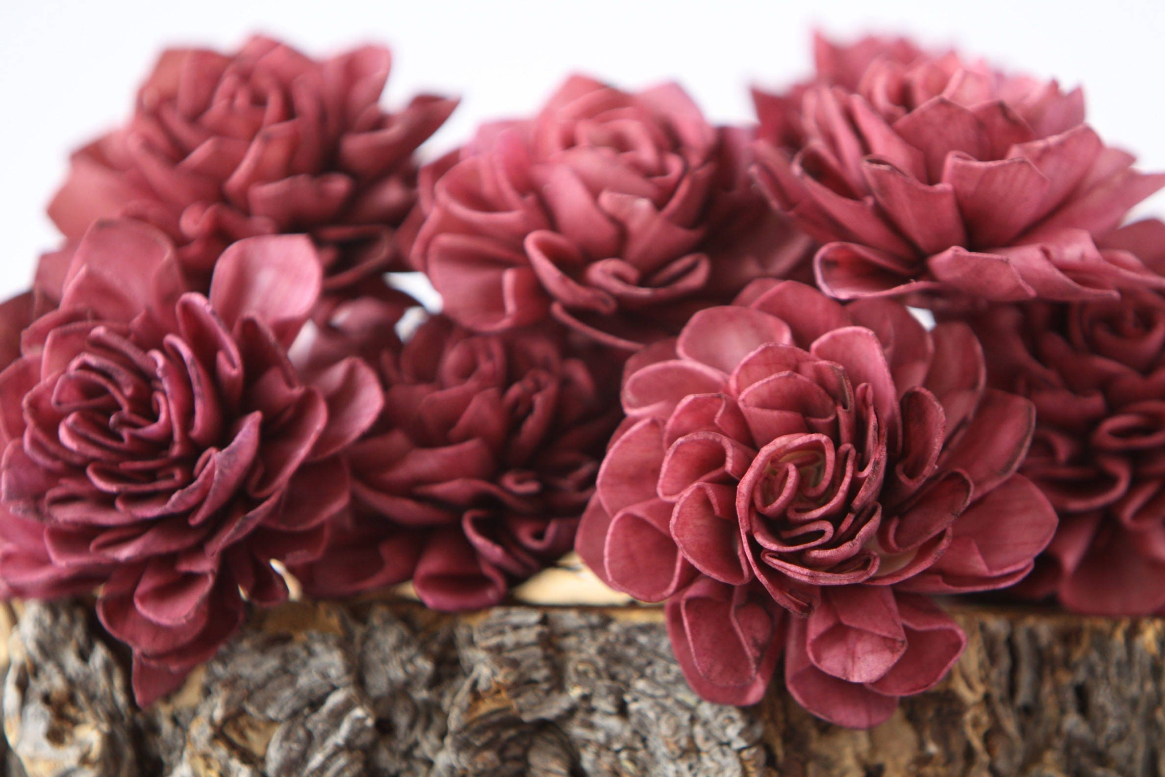 Aubergine Dahlia Sola Flowers - Set of 10, Sangria Folded Sola ...