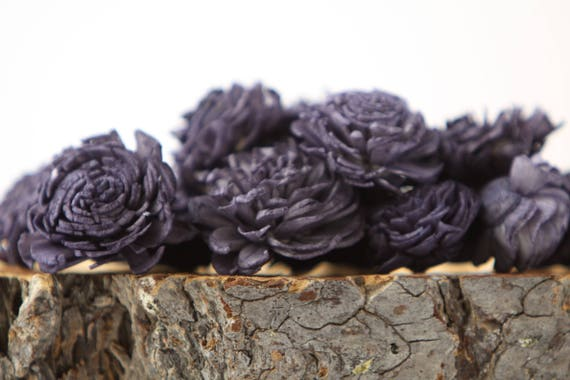 Navy Blue Mini Chorki Sola Flowers - Set of 15, Navy Sola Flowers, Mini Chorki Sola Flowers, Sola Flower, Wood Sola Flowers, Craft Flowers
