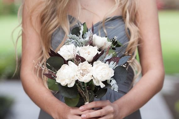 Neutral Ivory Boho Bridesmaid Bouquet -Keepsake Bridesmaid Bouquet