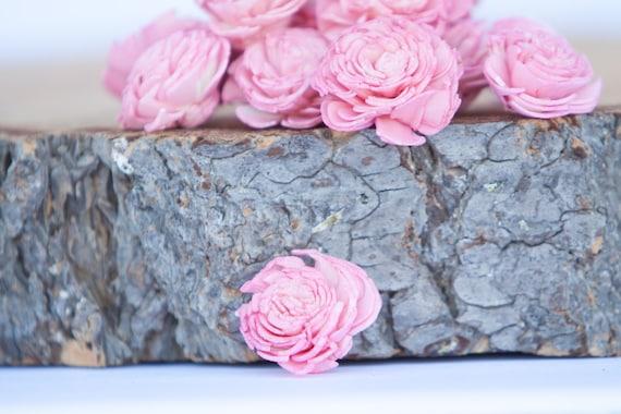 Baby Pink Chorki Sola Flowers - SET OF 10 ,Chorki, Sola, Wood Sola Flowers, Sola Wood Flowers, Balsa Wood Flowers, DIY Flowers, Pink Chorki