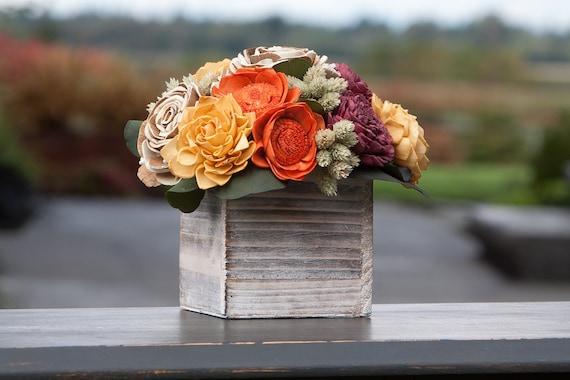 Fall Keepsake Sola Flower Arrangement - Autumn Foral Centerpiece