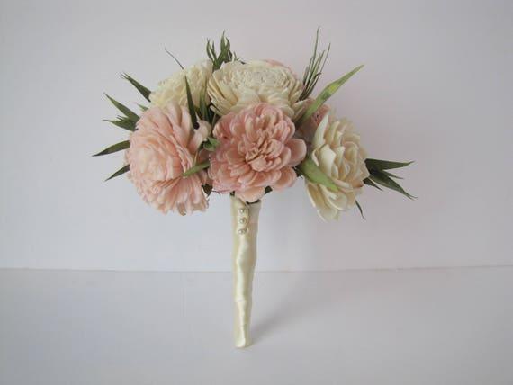 Blush Pink Flower Girl Bouquet - Sola Flower Bouquet - Flower Girl Sola Bouquet - Toss Bouquet - Keepsake Toss Bouquet