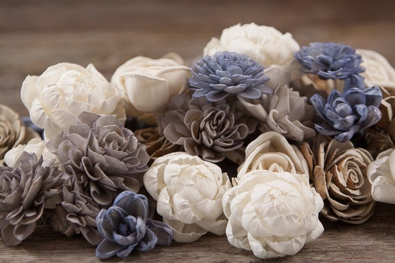 Stormy Sola Flower Mix - Available in sets of 45 and 100